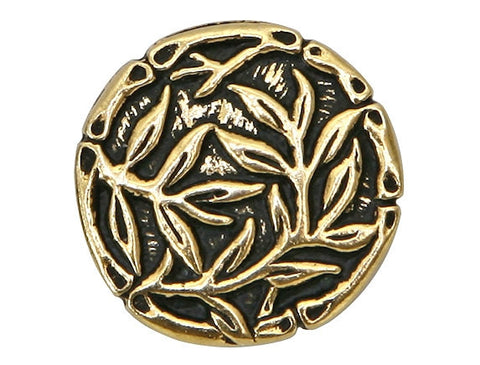 TierraCast Bamboo 5/8 inch Pewter Button Gold Plated