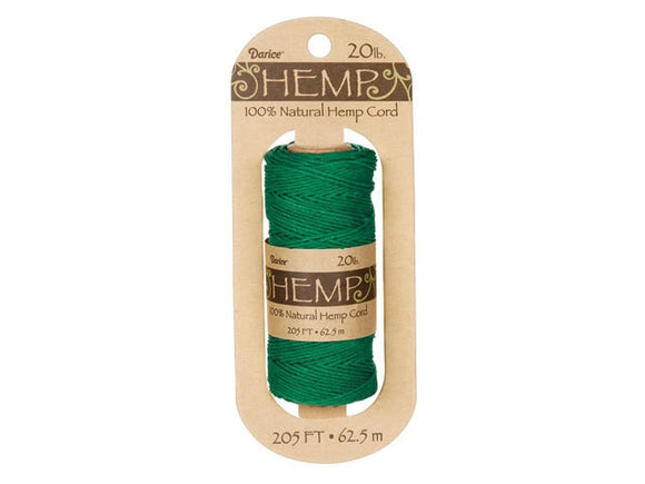 Hemp Cord Green Spool 20 lb ( 205 Feet)