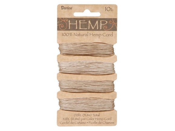 Hemp Cord Natural Color Set ( 10 lb 170 feet )