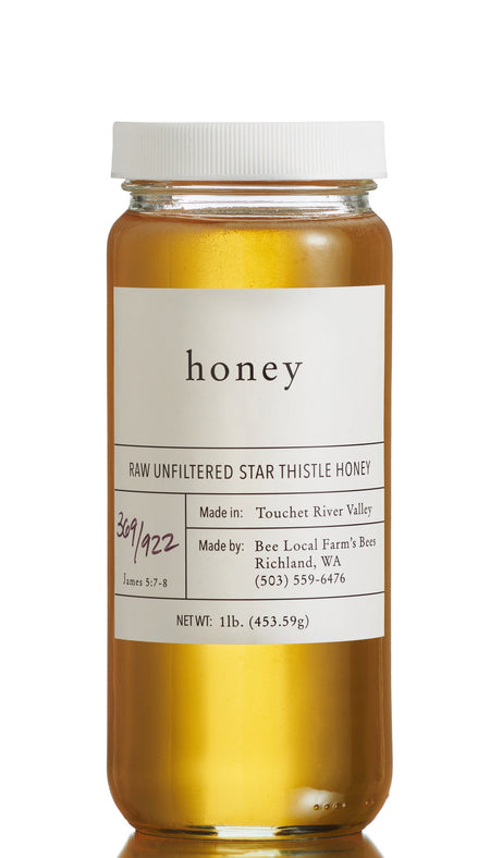 Raw Unfiltered Star Thistle Honey