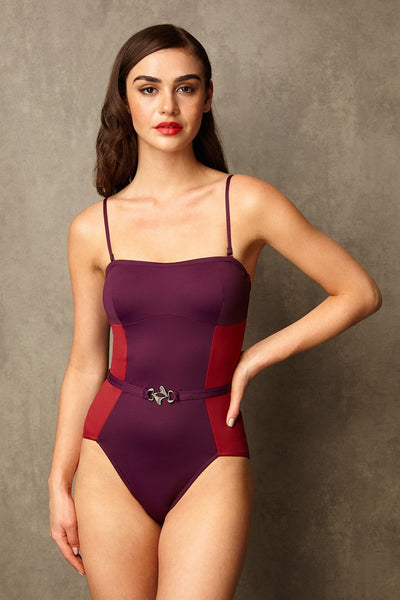 foxtrot swimsuit in cassis