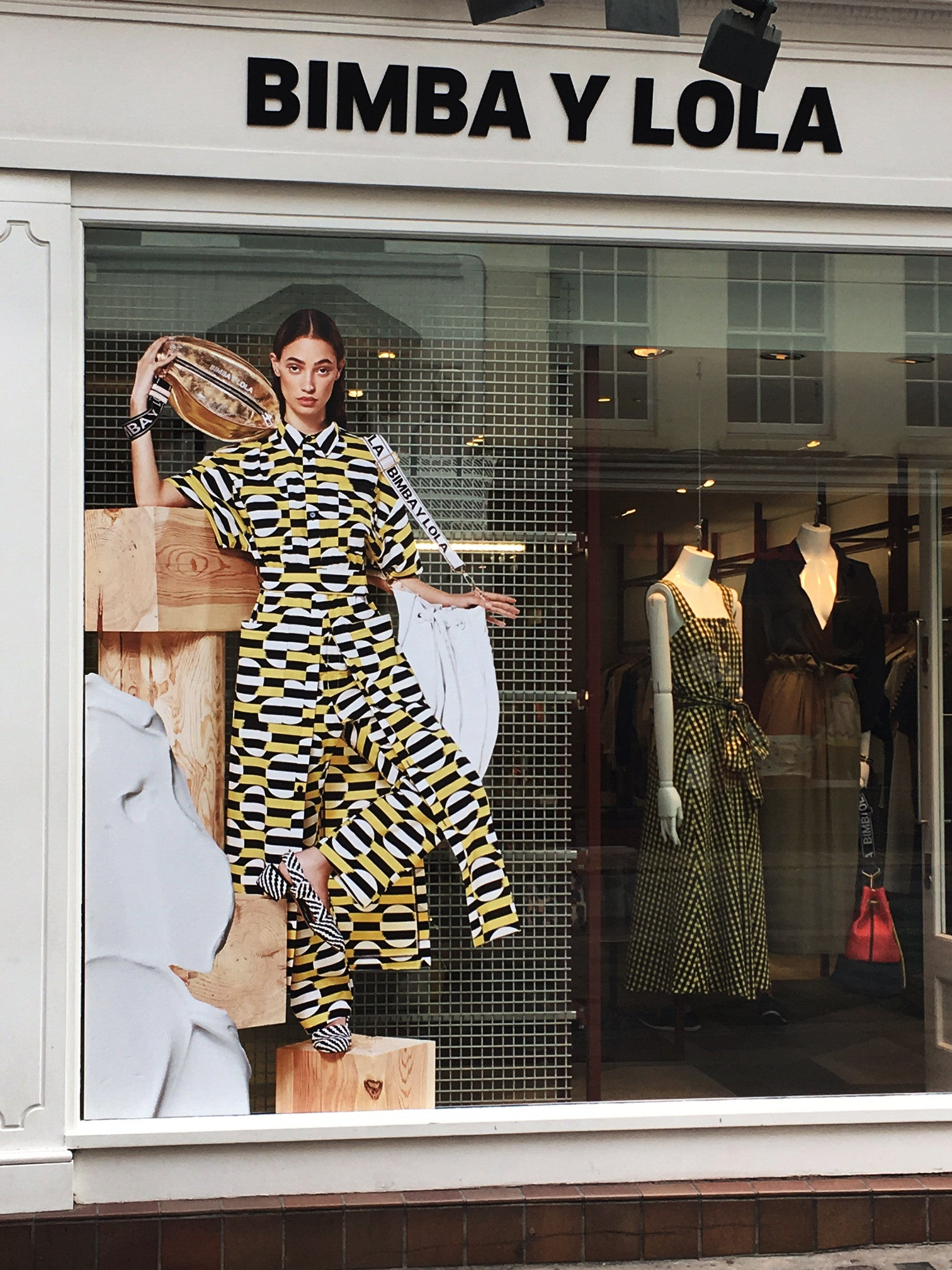 Spanish Fashion Brand Bimba Y Lola window display South Molton Street London