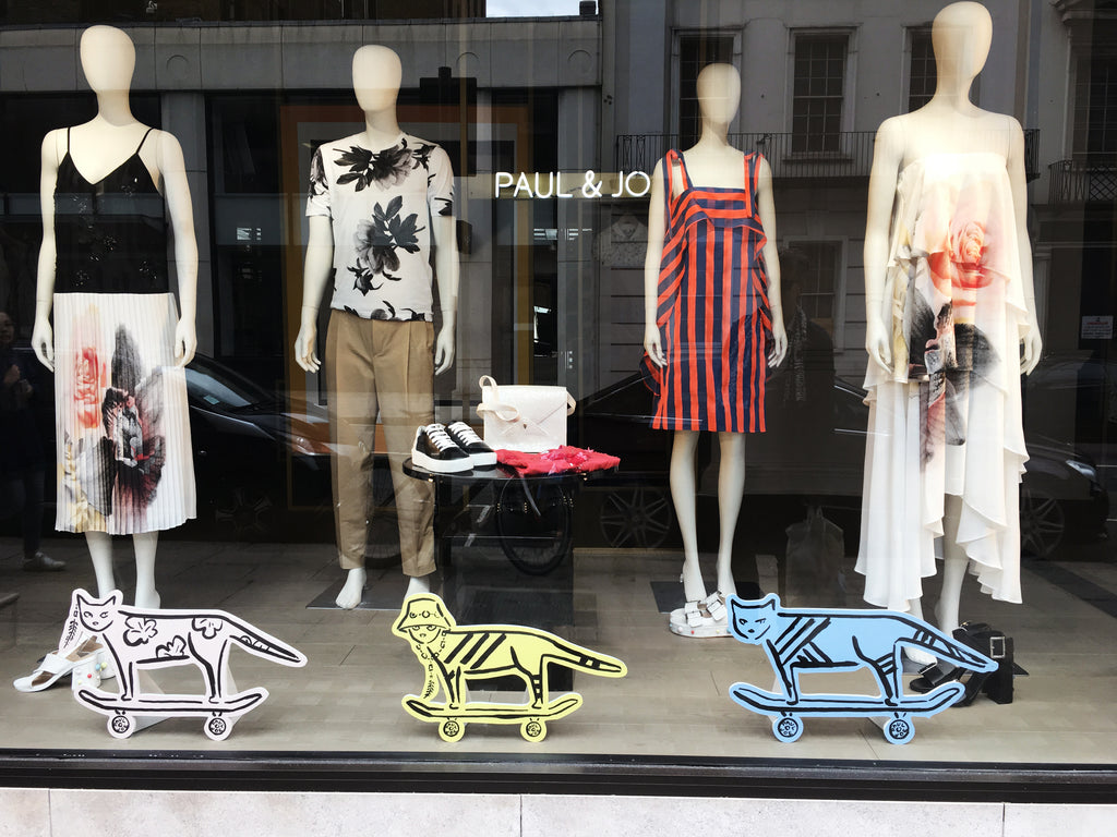 French fashion brand Paul & Jo flagship window display London