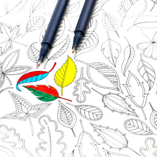 10 Professional Fineliner Pens Set For Coloring Books