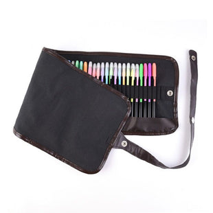 48 Professional Coloring Gel Pens Set PLUS 48 Refills with Travel Case