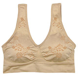 Coobie Comfort Bra - Floral Pattern (5 Color Choices)
