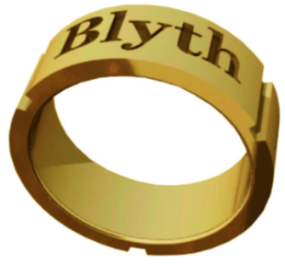 The Blyth School Ring  - Band Design in Gold with Matte Finish
