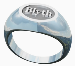 The Blyth School Ring  - Oval Design in a Matte Finish