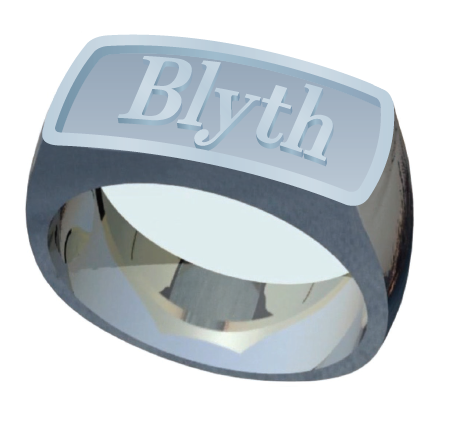 The Blyth School Ring  - Signet Classic in Matte Finish