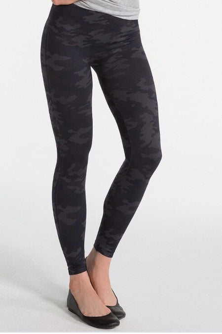 Camo Faux Leather Leggings