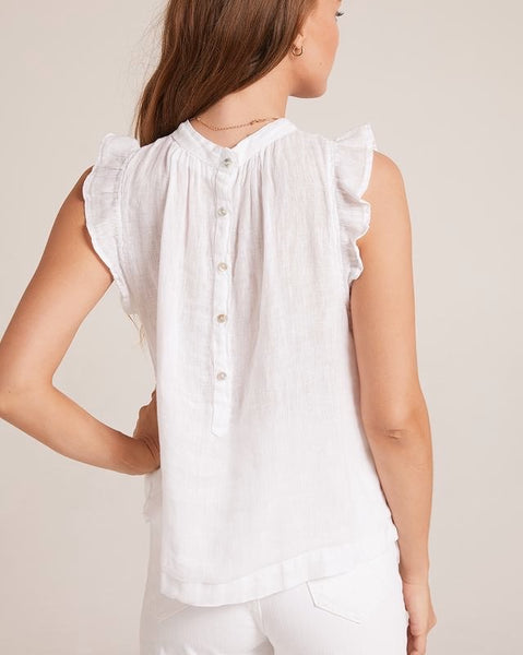 Ruffle Mock Neck Top