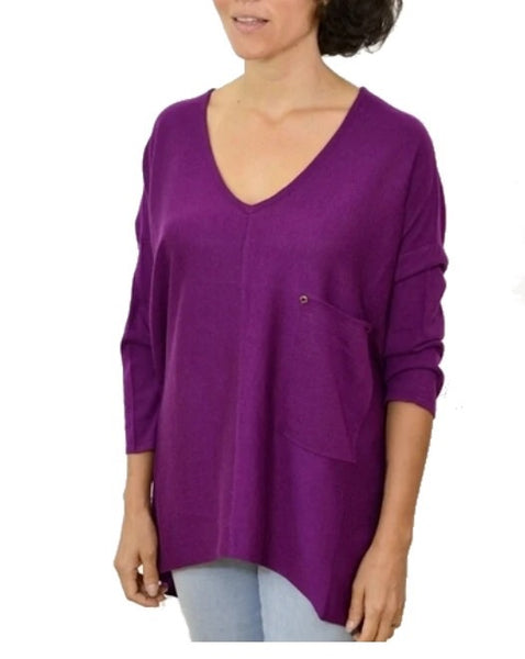 Raven Knit Top- Grape