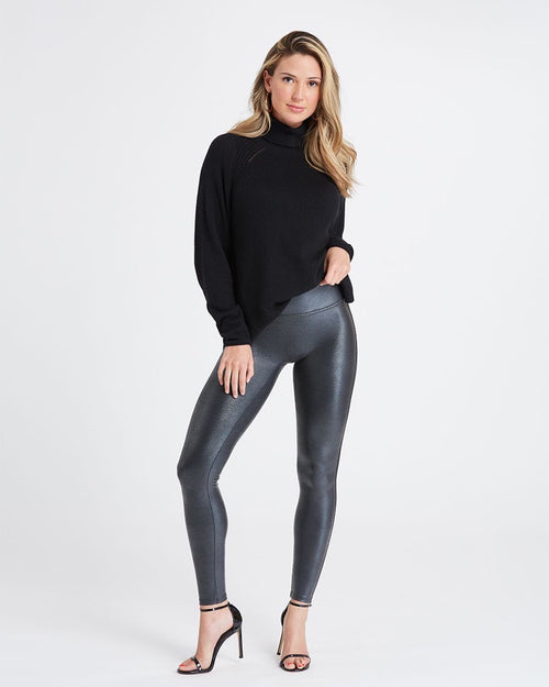 Faux Leather Pebbled Croc Leggings
