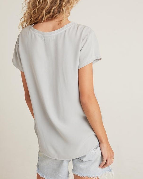 Foggy Gray V-neck