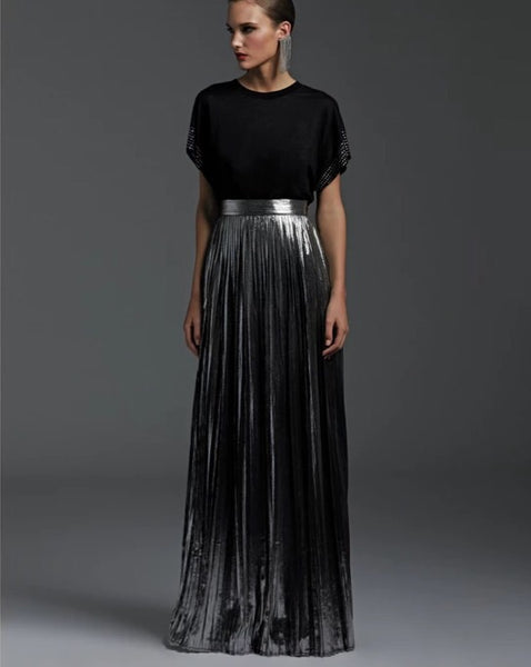 Jackie Pleat Skirt