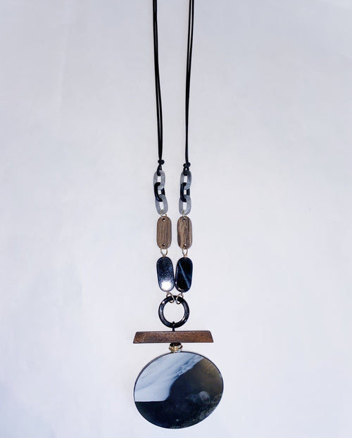 Wood Chuck Oval Necklace