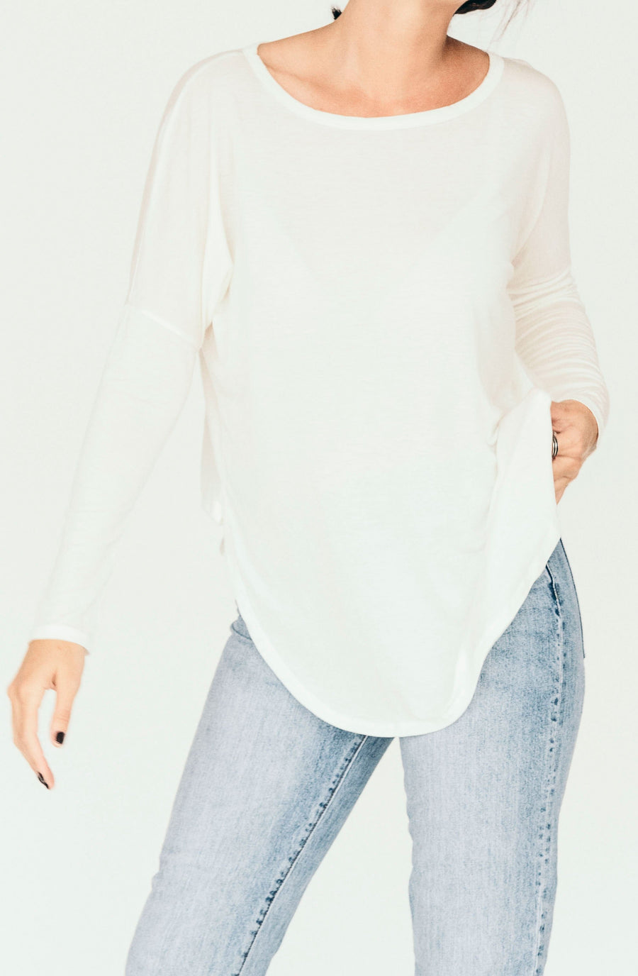 groceries apparel karly top - white