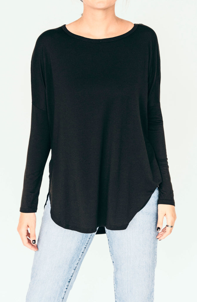 groceries apparel karly top - black