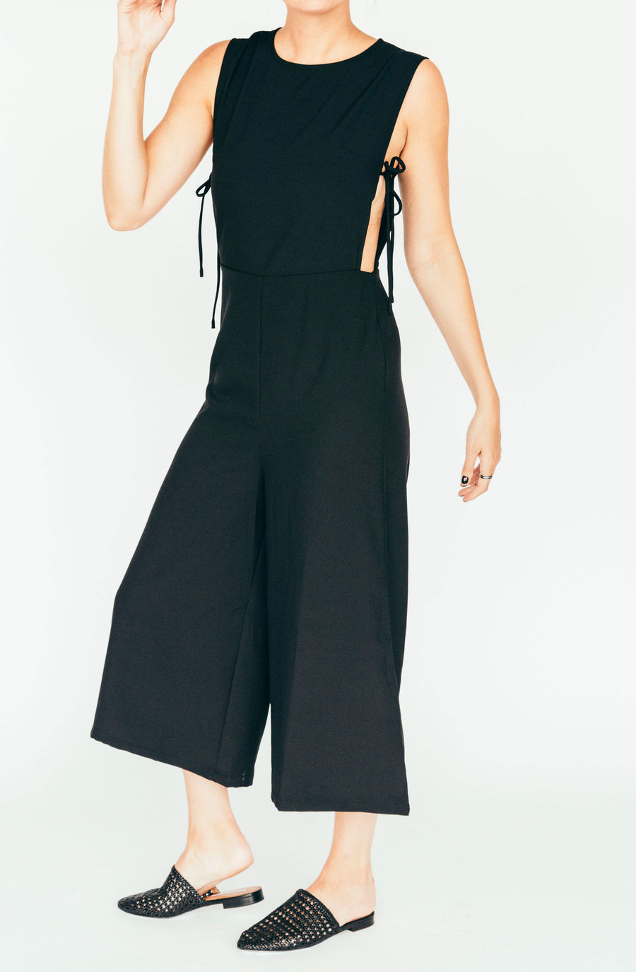 after market side-tie jumpsuit