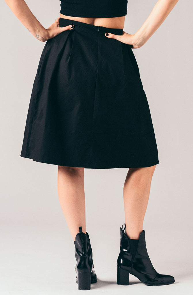 Just Female black a-line pleated skirt.