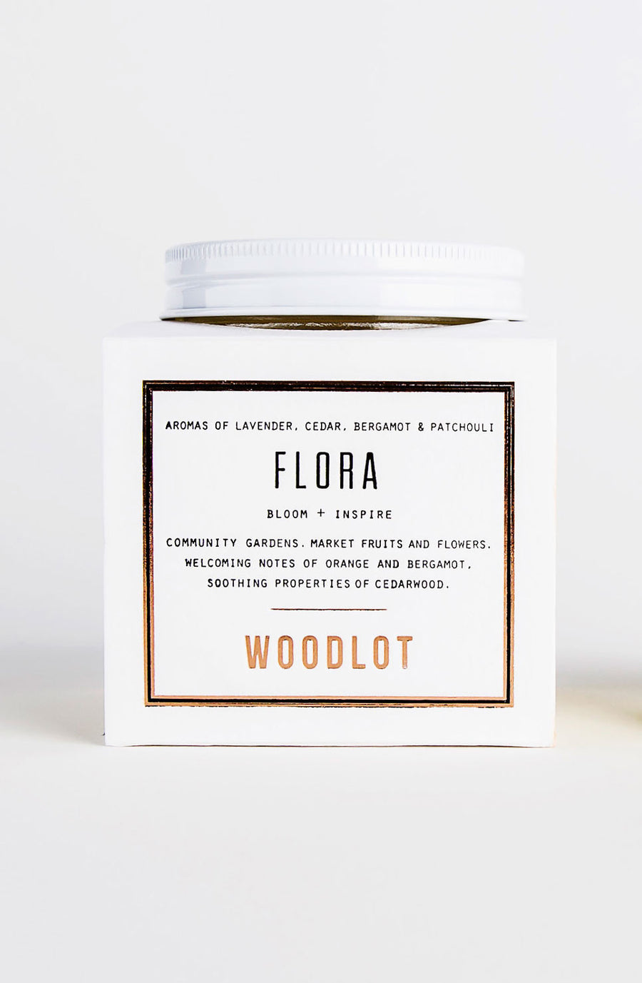 Woodlot Eco-Friendly Small Coconut Wax Candle - Flora