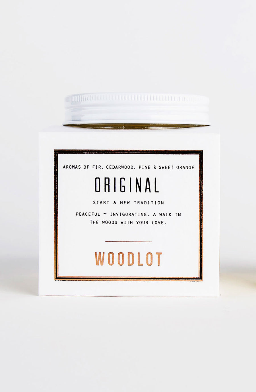 Woodlot Eco-Friendly Small Coconut Wax Candle - Original
