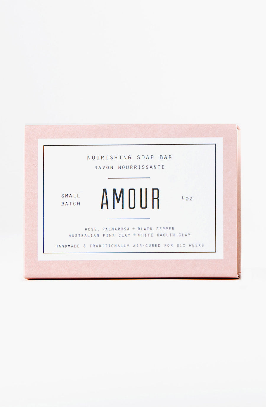 Woodlot Vegan Nourishing White Clay Bar Soap - Amour scent