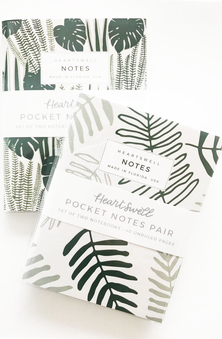 heartswell jungle notebook pair