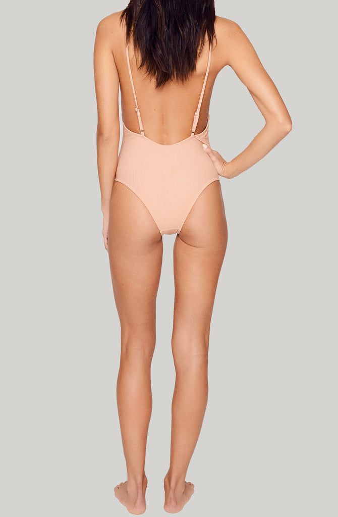 static swimwear venice one piece - blush