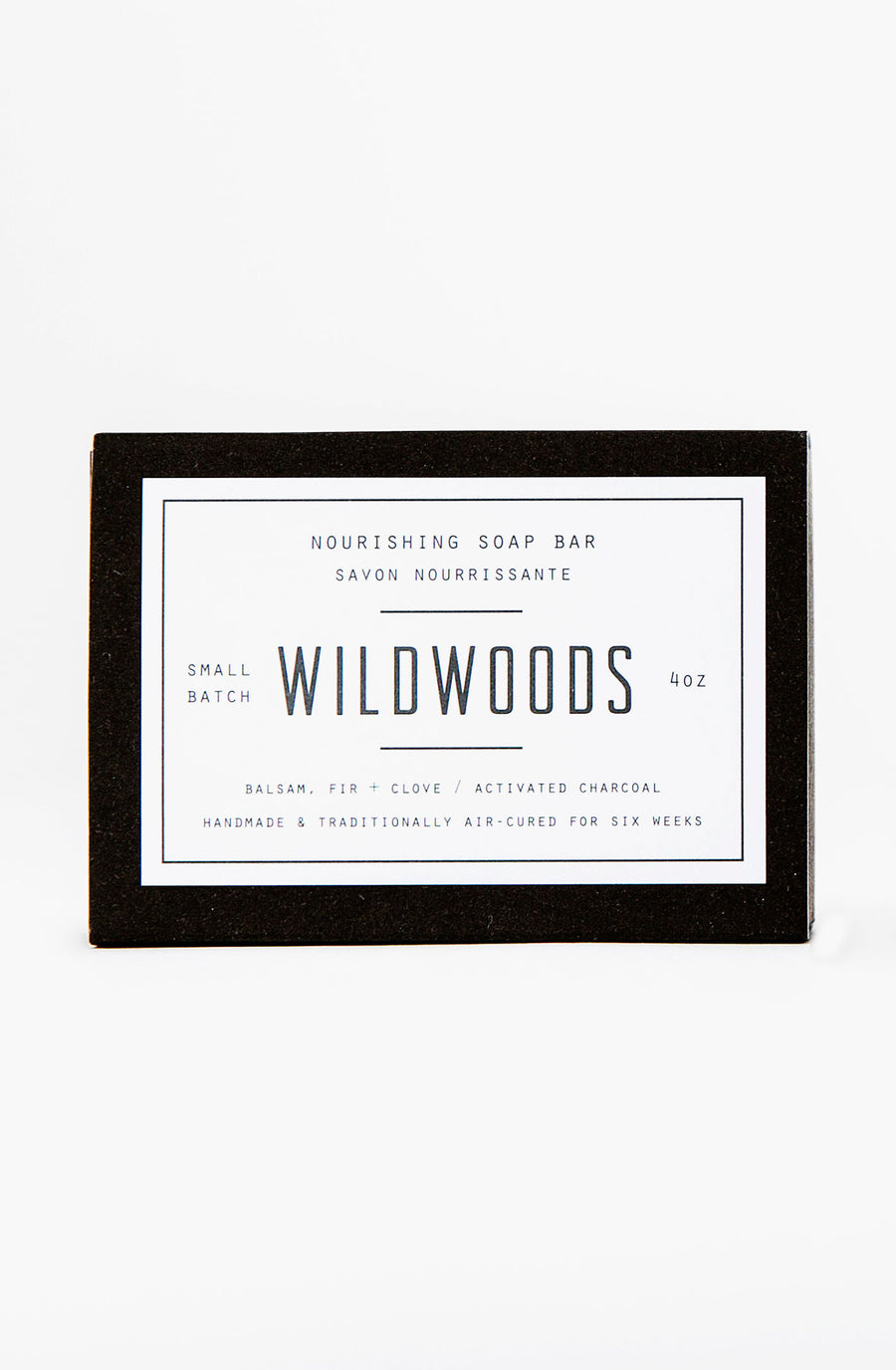 Woodlot Vegan Nourishing Detoxifying bamboo charcoal Bar Soap - Wildwoods Charcoal