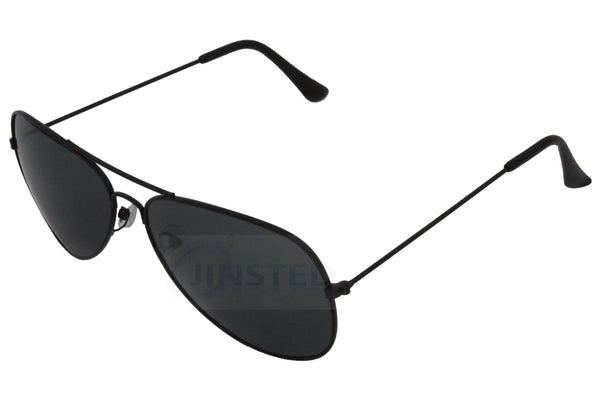 Adult Black Aviator Sunglasses - Jinsted
