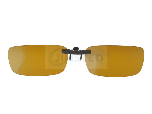 Adult Sunglasses, High Quality Yellow Polarised Clip On Fishing Sunglasses, Jinsted