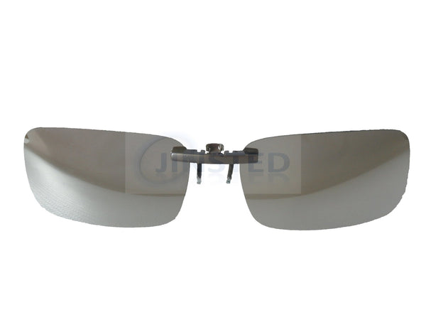 Adult Sunglasses, Silver Mirrored Reflective Clip On Sunglasses, Jinsted