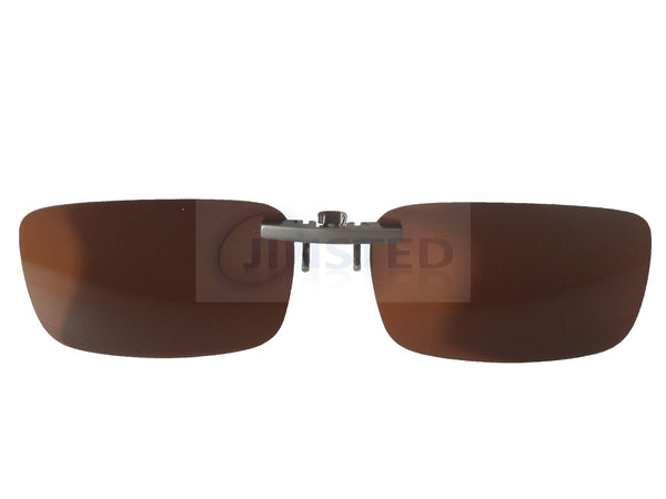 High Quality Brown Polarised Clip On Sunglasses ACP012 Jinsted