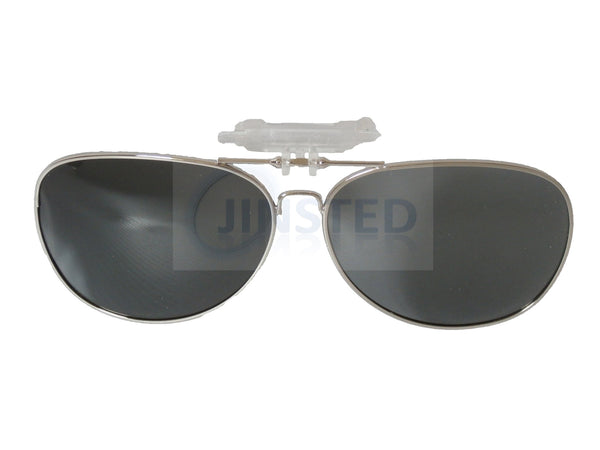 Black Aviator Clip On Flip Up Sunglasses ACP016 Jinsted