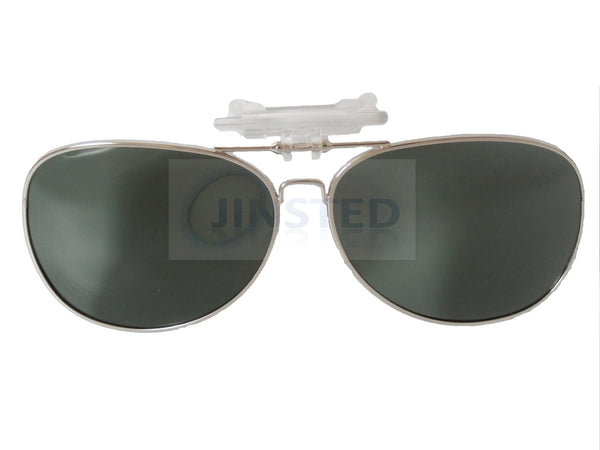 Adult Sunglasses, Green Aviator Clip On Flip Up Sunglasses, Jinsted