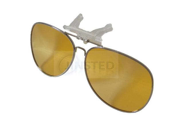12988d75a9 Yellow Aviator Clip On Flip Up Fishing Sunglasses – Jinsted