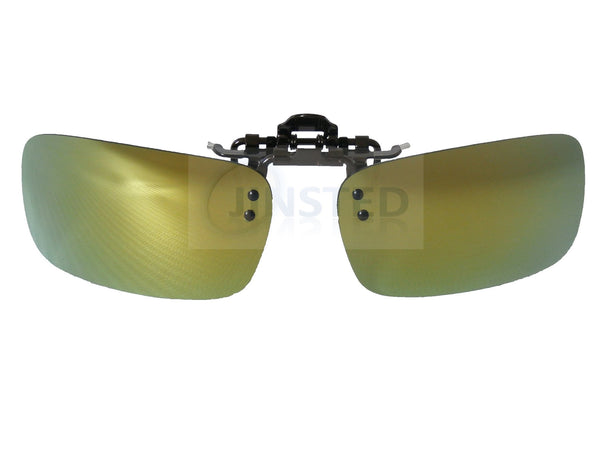 High Quality Green Mirrored Reflective Clip On Flip Up Sunglasses ACP023 Jinsted