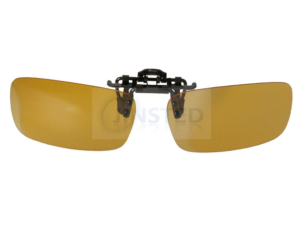 Adult Sunglasses, High Quality Yellow Polarised Clip On Flip Up Fishing Sunglasses, Jinsted