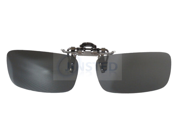 Adult Sunglasses, High Quality Black Polarised Clip On Flip Up Sunglasses, Jinsted