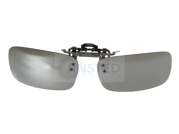 High Quality Silver Mirrored Reflective Clip On Flip Up Sunglasses ACP027 Jinsted