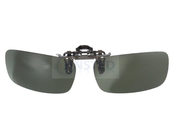 Adult Sunglasses, High Quality Green Polarised Clip On Flip Up Sunglasses, Jinsted