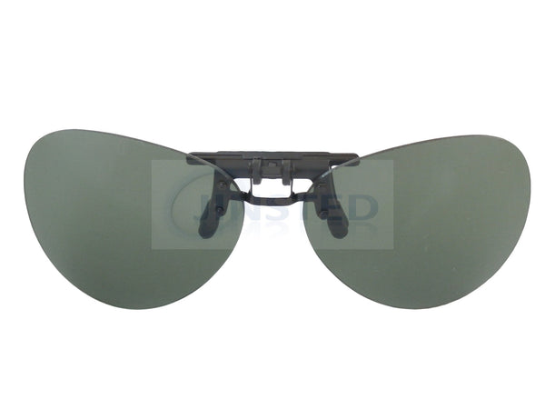 Green Aviator Clip On Flip Up Sunglasses ACP033 Jinsted