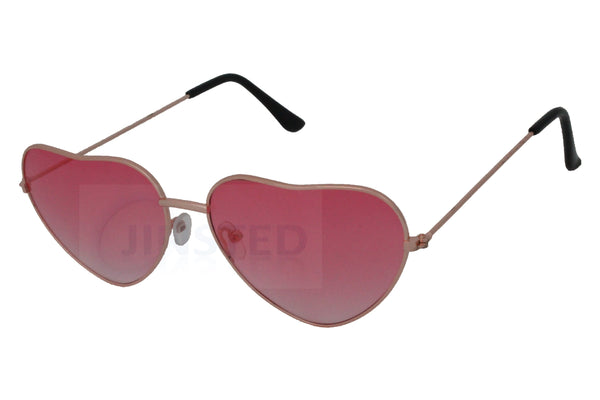 Adult Pink Lolita Heart Shaped Sunglasses - Jinsted