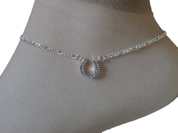 Ladies Jewellery, Silver Anklet with Horseshoe Design, Jinsted