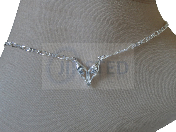 Ladies Jewellery, Silver Anklet with Wolf Charm, Jinsted