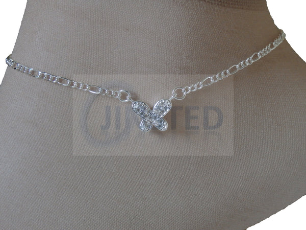 Silver Anklet with Butterfly Design ANC020 Jinsted