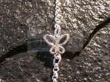 Ladies Jewellery, Silver Anklet with 3 Butterfly Charms, Jinsted