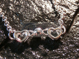 Silver Anklet with 6 3D Heart Charms ANC037 Jinsted