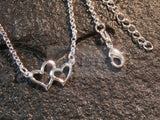 Ladies Jewellery, Silver Anklet with 2 Heart Charms, Jinsted